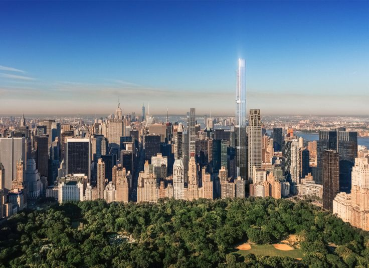 Rendering of Central Park Tower (Courtesy of Extell Development)