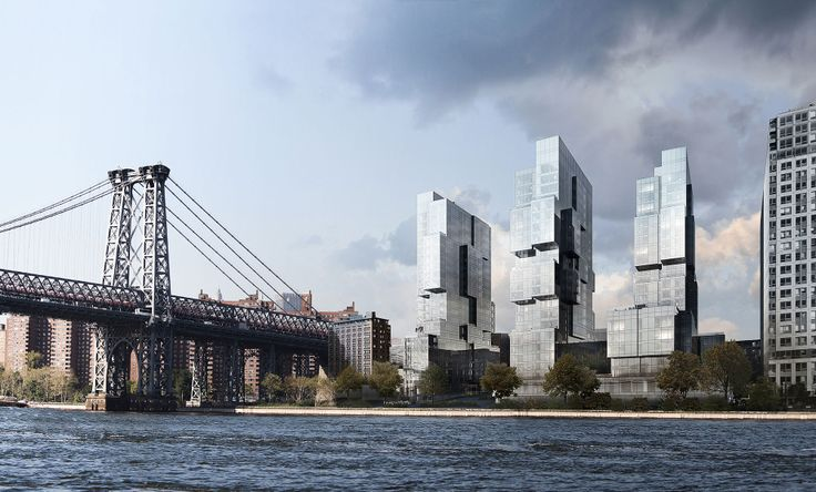 View of 420 Kent from East River via Bloomimages