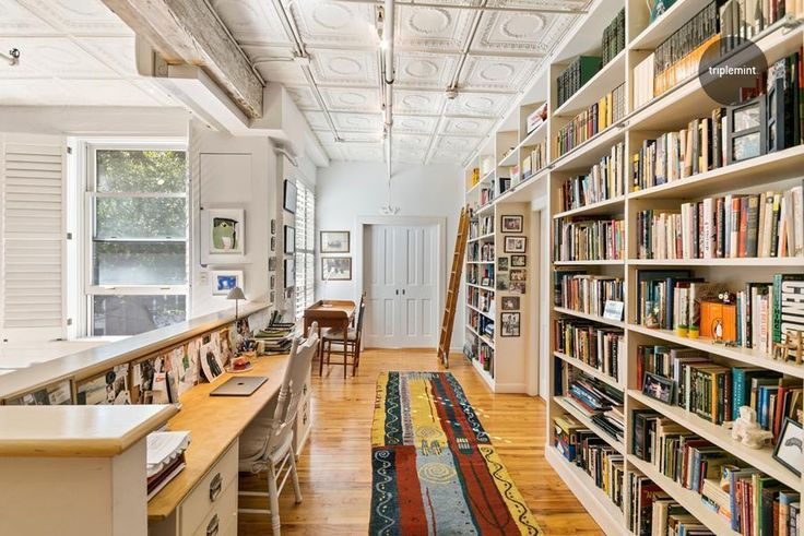 A 2.8M loft in Chelsea offers the ultimate library (Triplemint)