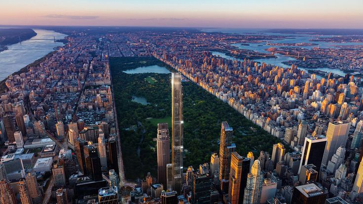All images of Central Park Tower via Extell