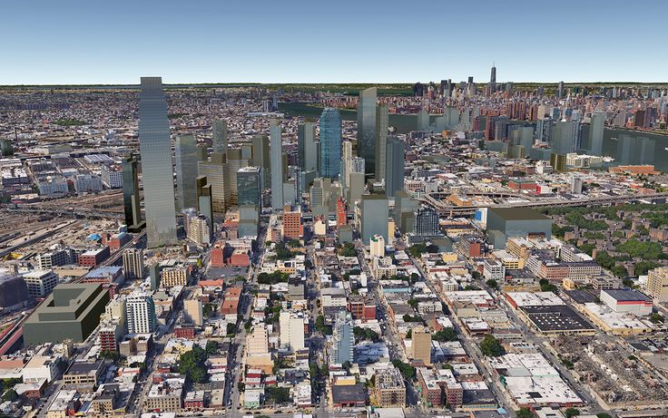 Future Long Island City skyline with 29-37 51st Avenue towards the left (CityRealty)