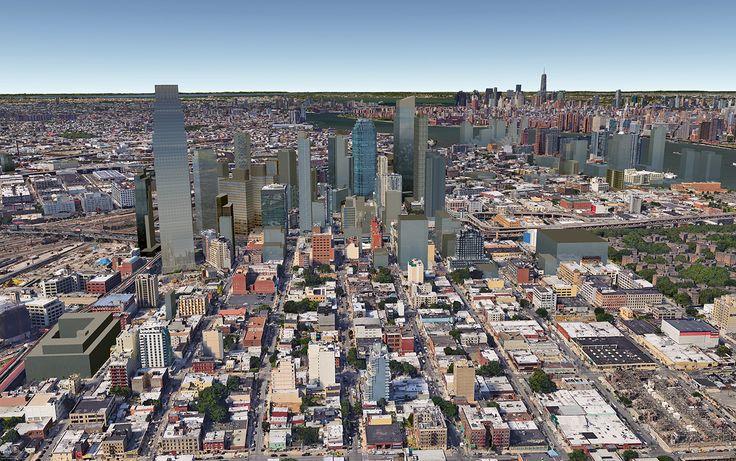 Future Long Island City skyline with 29-37 51st Avenue towards the left (CityRealty)