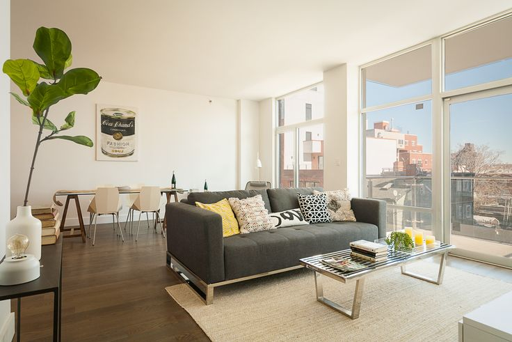 Model apartment living room; ModernSpaces
