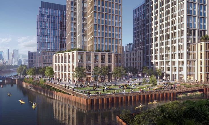 Conceptual vision for development along the Gowanus. Rendering by SCAPE for developers Domain Companies, Monadnock Construction, and Property Markets Group