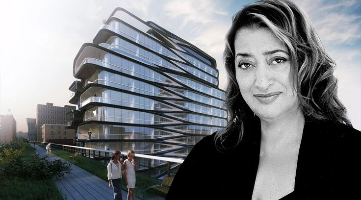 Zaha Hadid and her first NYC building at 520 West 28th Street