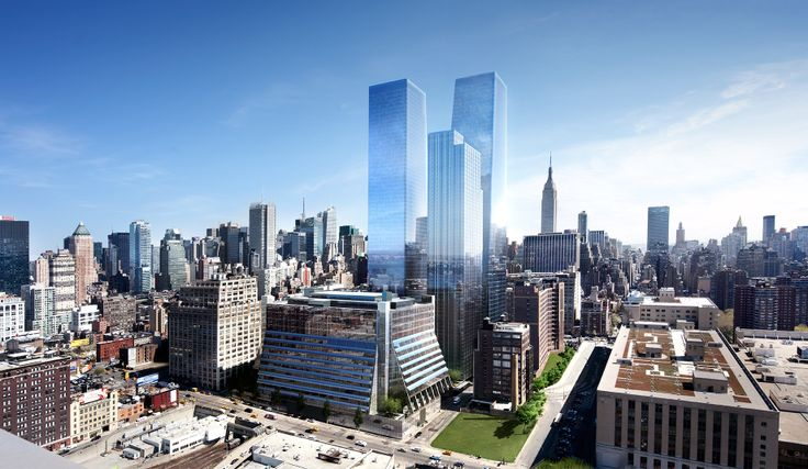 Rendering of Manhattan West with the Eugene (Brookfield Properties)