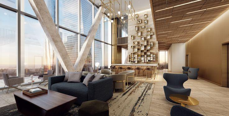 High-floor lounge at AC Hudson Yards Hotel (Credit: Danny Forster Design Studio)