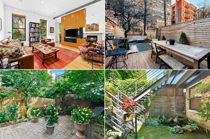 Tucked behind many of Manhattan's high-rises and townhouse are leafy respites well-suited for relaxation and to let pets roam free