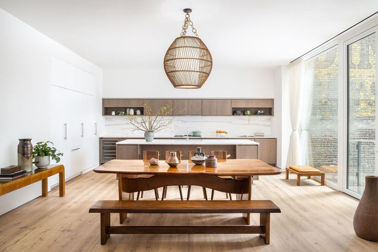 Kitchen and dining area at 532 West 20th Street