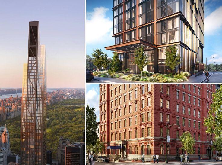 New York City new developments (L to R: 53W53, Quay Tower, 101 West 78th Street)