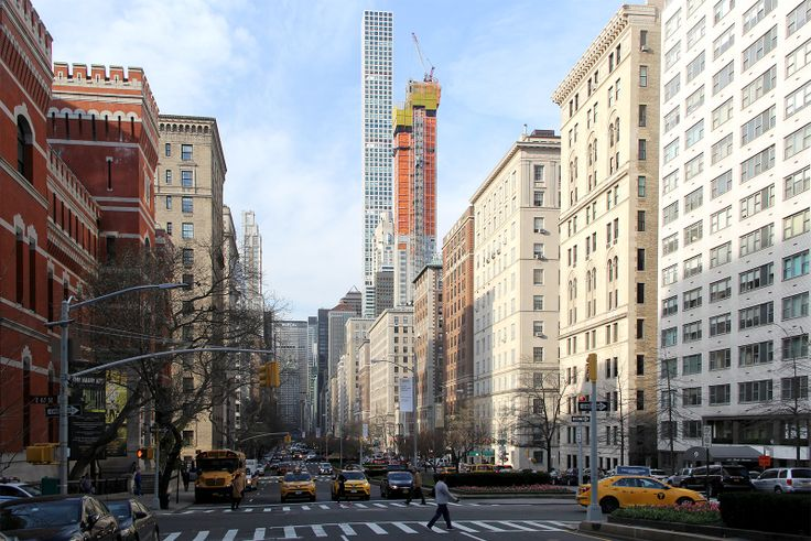 520 Park Avenue topped off, looking south down Park Avenue; CityRealty