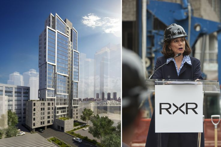 Rendering of 2413 Third Avenue and Joanne Minieri, Senior Executive Vice President, Chief Operating Officer of Development and Construction, RXR Realty