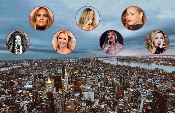 Female Singers with current and past residences in NYC