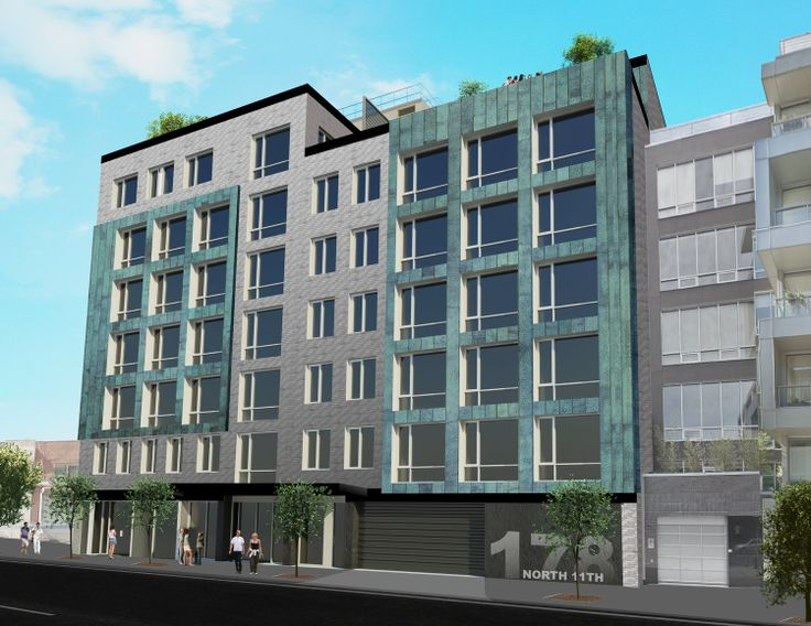 Perspective view of 178 North 11th. Credit: Kutnicki Bernstein Architects (KBA)