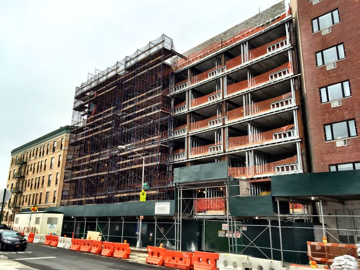 Construction Has Nearly Topped Off at The Highbridge in Washington Heights. Construction Photos via CityRealty
