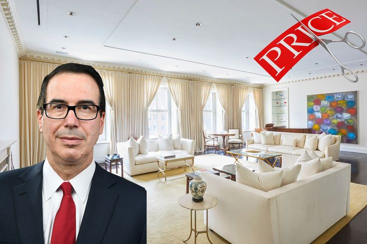 Treasury Secretary Steven Mnuchin  and interior of his listed apartment at 740 Park Avenue  (Warburg Realty)