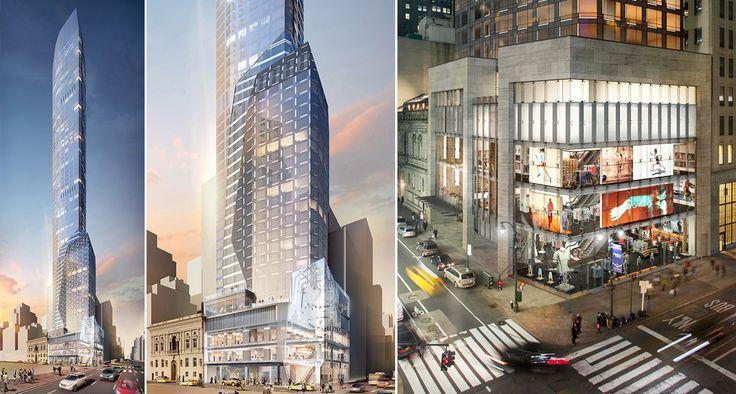 Renderings of 520 Fifth Avenue; Ceruzzi Properties . Thor Equities
