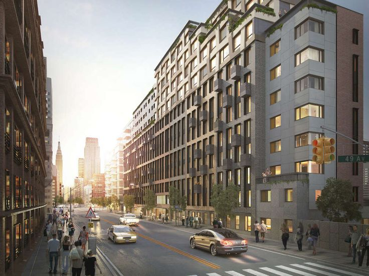 Rendering of Hunters Landing at 11-39 49th Avenue (Image via Haak Architects)