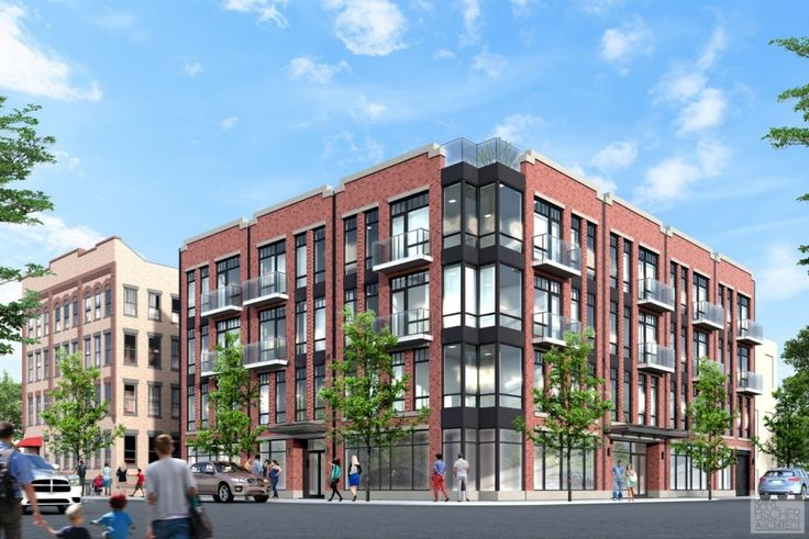 Rendering of The Mosaic at 23 Menahan Street in Bushwick (Image: Karl Fischer Architects)