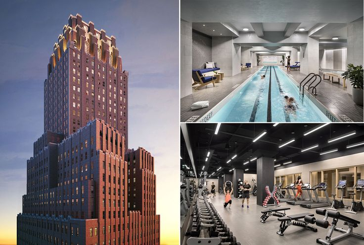 One Hundred Barclay (via Corcoran) presents an extensive lineup of health and wellness amenities (all amenity photos via Scott Frances)