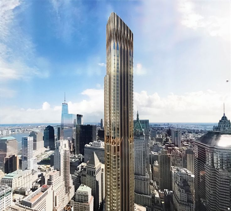 Rendering of 45 Broad Street posted on construction fence (CityRealty)