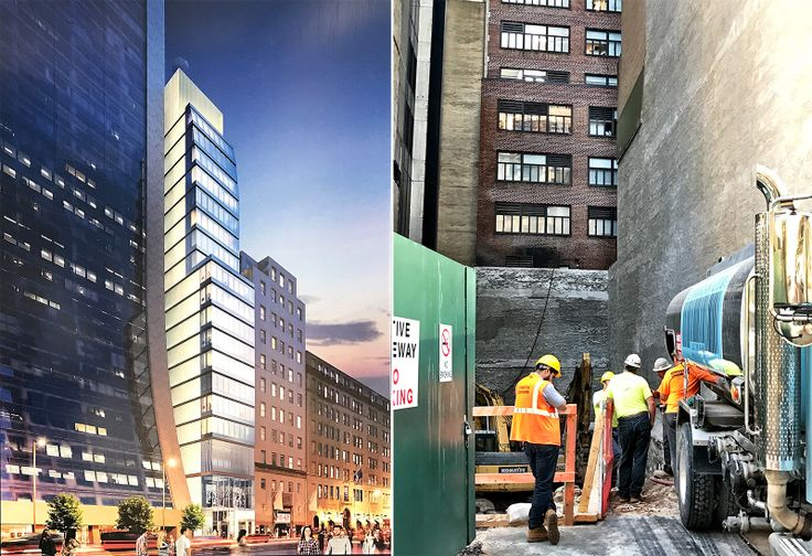 Rendering of 7 West 57th Street post on construction site (CityRealty)