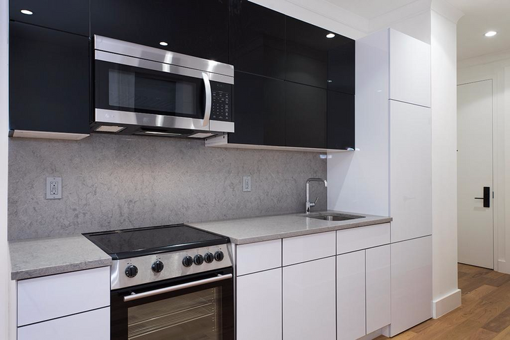 Newly renovated apartments at Lenox Row rentals currently offer up to two months of free rent. (Image via Bold New York)