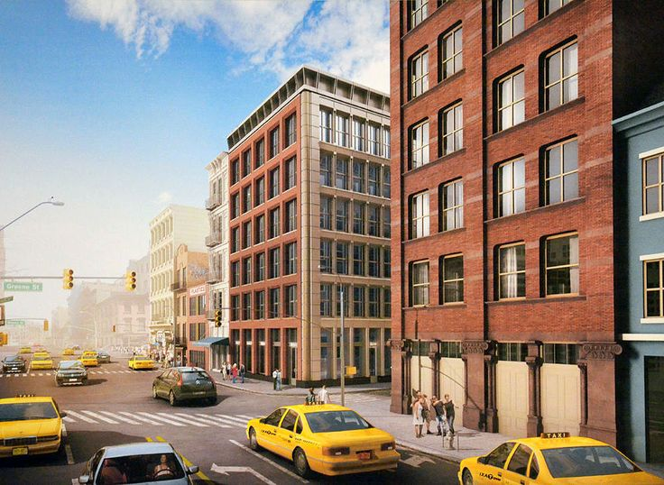 Rendering of 11 Greene Street, which received approvals from the Landmarks Preservation Commission.