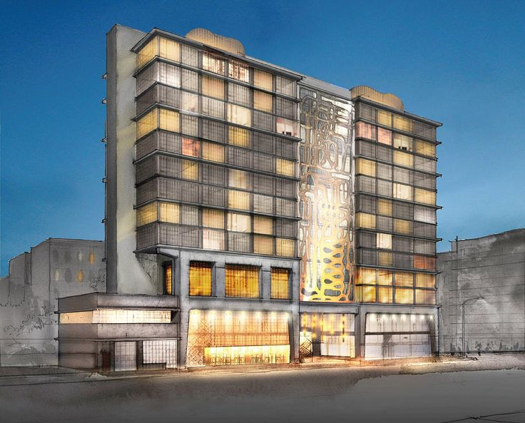 Rendering of Bond Street Hotel via Broadway Construction Group