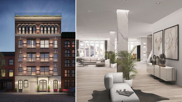 Renderings and images of 332 West 11th Street courtesy of Compass