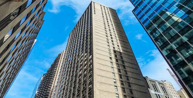 Carnegie Mews is a 36-story rental tower at 211 West 56th Street with 396 units. (Image via Rose Associates)