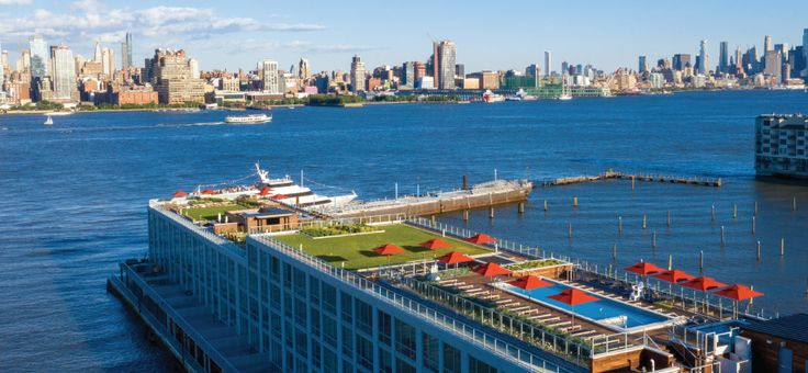 Roof deck and views at Harbor 1500; Photo credits: The Maxal Group and Hartz Mountain Industries