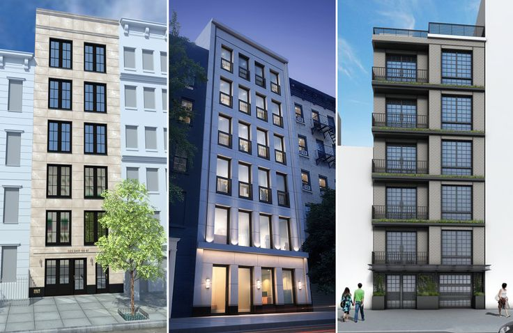 L to R: 323 East 53rd, 336 East 54th Street, and 245 East 53rd Street