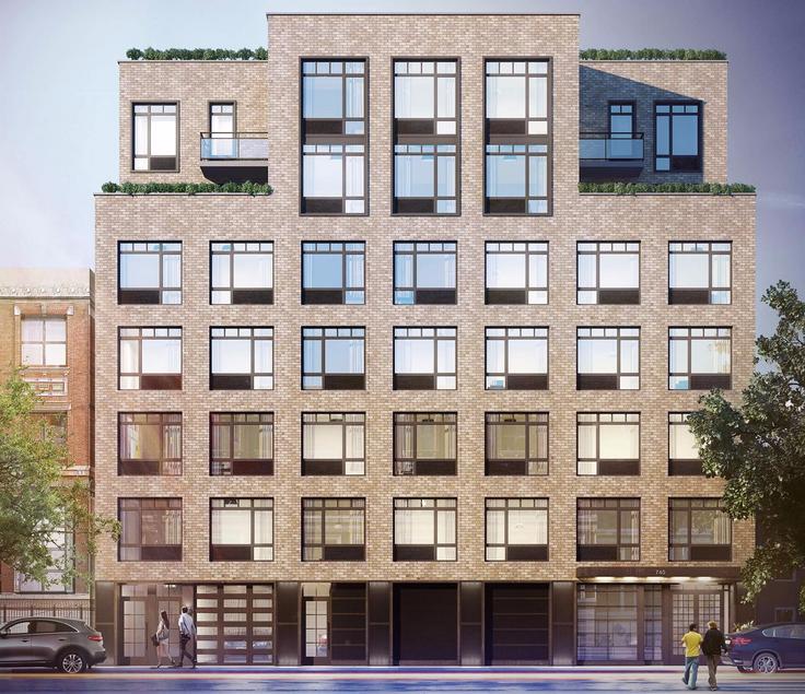 The Dekalb, a new rental building at 740 Dekalb Avenue in Bedford-Stuyvesant, Brooklyn (Image via Halstead Property)