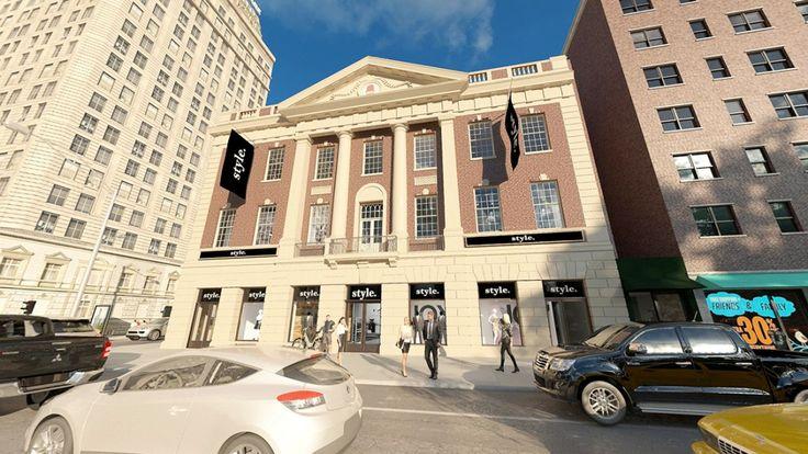 44 Union Square retail rendering