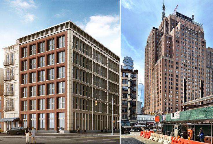 11 Greene Street rendering (l; Gene Kaufman) and photo (r; CityRealty)
