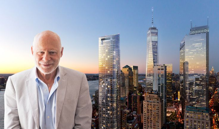 Time Equities, Inc. Chairman and Founder Francis Greenburger and a rendering of FiDi's 50 West Street (DBOX)
