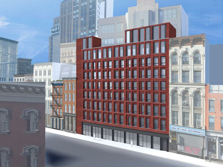 Rendering of 312-322 Canal Street by Paul A. Castrucci Architect