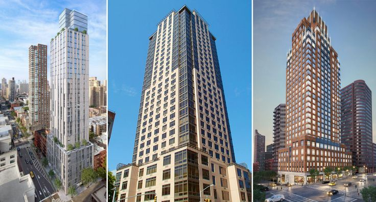 The top three selling buildings in 2018 so far are (L to R) Citizen360, 389 E 89, and The Kent