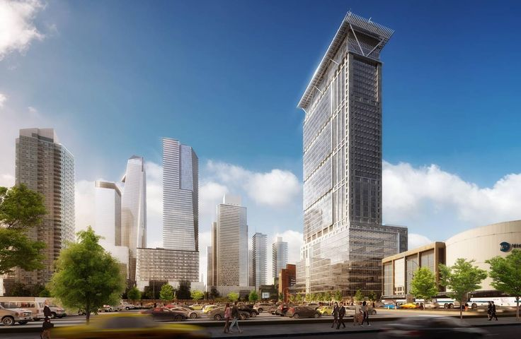 Rendering of 495 Eleventh Avenue designed by Davis Brody Bond Architects