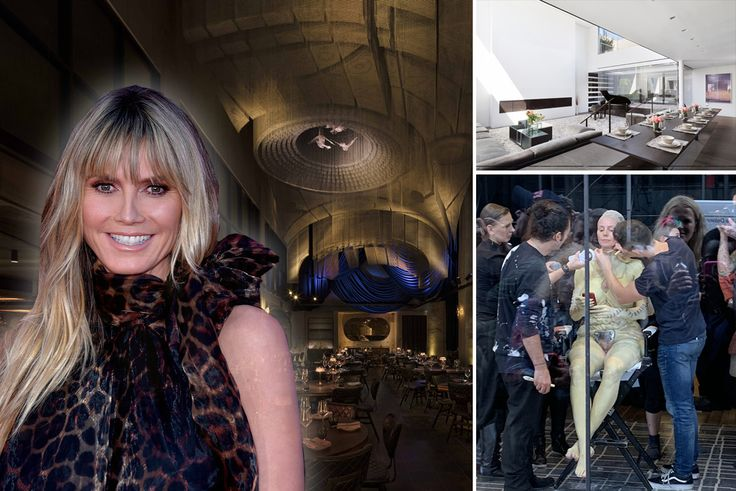 Between the party setting and the prep space, Heidi Klum sure knows how to choose venues. (l-r: Cathedrale via Moxy Hotels, Heidi Klum via Wiki Commons photo by Glenn Francis, The Soho Gallery Building via Compass)
