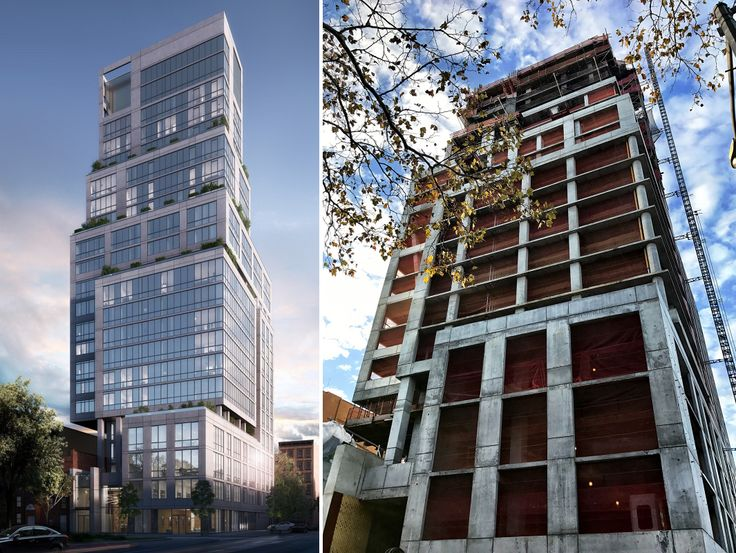 1399 Park Avenue rendering (l) and photo (r) (CityRealty)