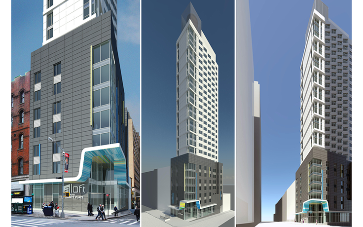 PPA released new renderings of the Aloft Hotel, which will stand in the heart of the Financial District.