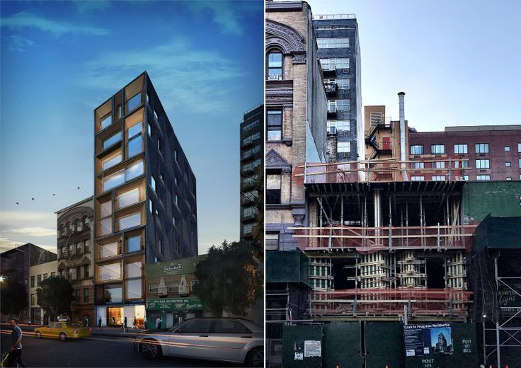Rendering of 165 Chrystie Street; ODA Architecture