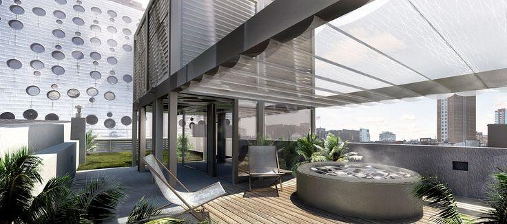 Rooftop rendering of 357 West 17th Street (Workshop DA and Wonder Works Construction)