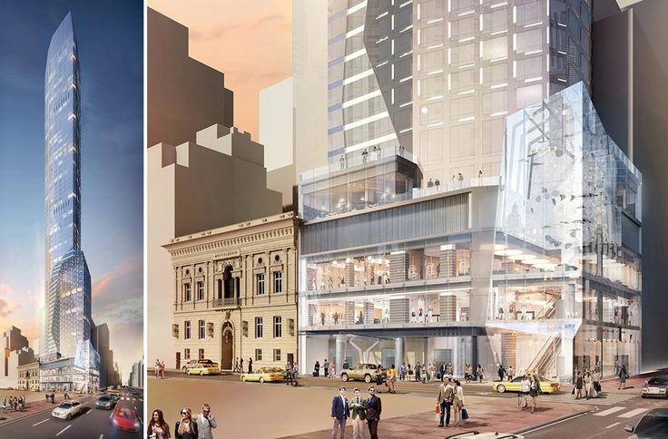Renderings of 520 Fifth Avenue via Ceruzzi Holdings / SMI USA