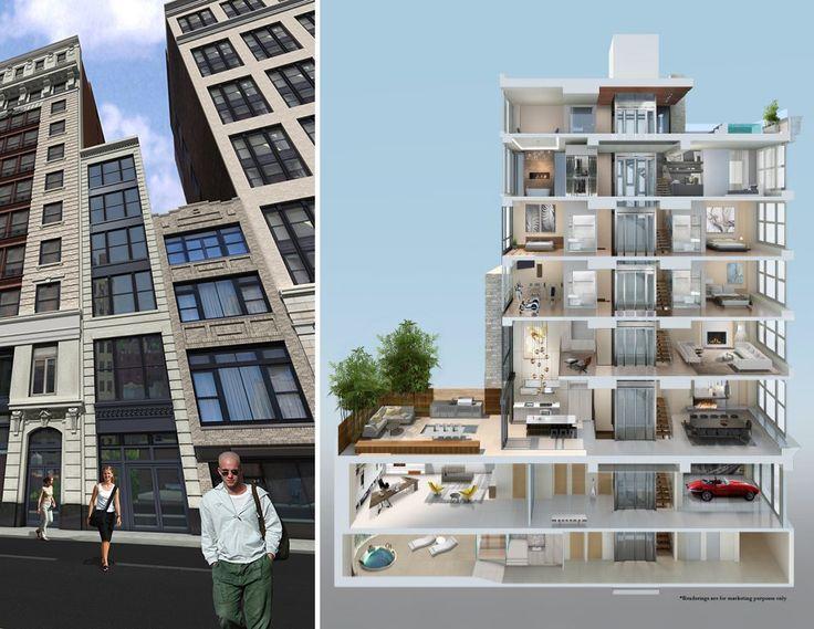 Renderings of 34 West 21st Street via Karl Fischer Architect