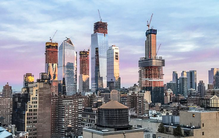 Hudson Yards (left). Photo by CityRealty