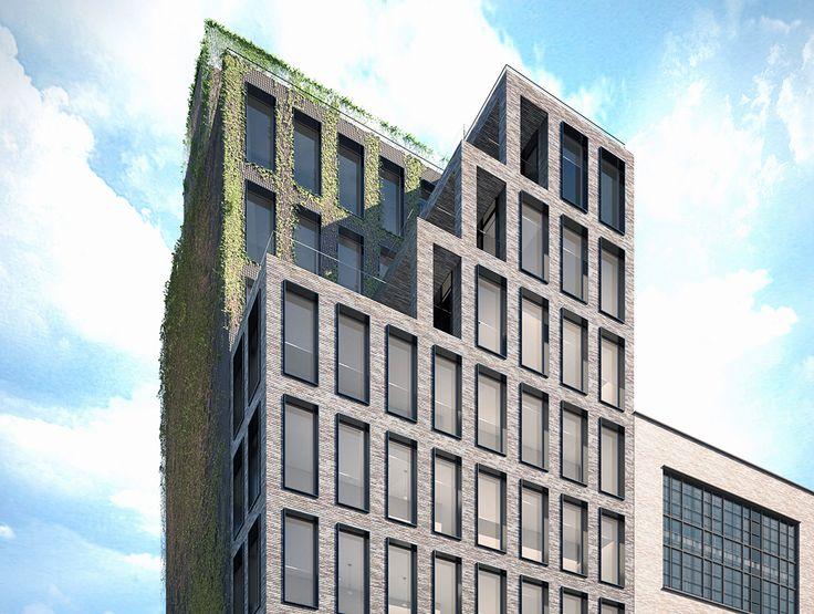 Exterior rendering of AA Studio's High Line condo project; Image source: AA Studio