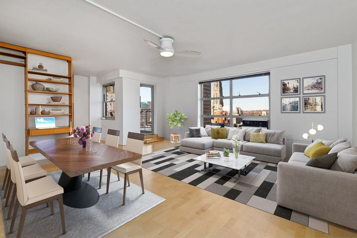 501 West 123rd Street, #19H is a one-bedroom listed for an approachable $529K